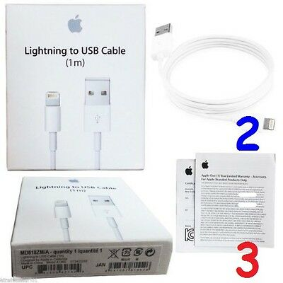 ORIGINAL CABLE USB CHARGEUR APPLE LIGHTNING iphone 5/6/7 IPOD IPAD