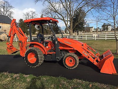 Kubota L45 Commercial Duty Tractor Loader Backhoe, 2012 Model, 4x4, Hydro, 45HP