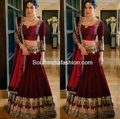 Ethnic Designer Party Wear Indian Wedding Sari Bridal Bollywood Dress New Saree