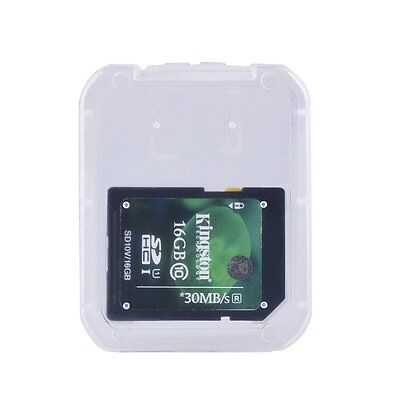 Plastic Storage protective Case Holder Box For SD SDHC Memory Card Micro SD UK