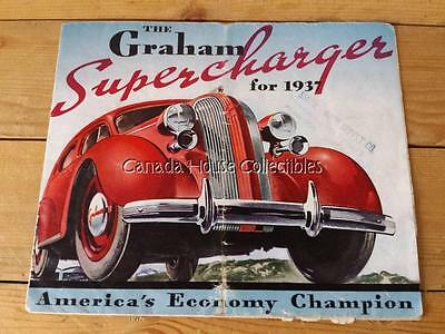 Htf Original 1937 Graham Supercharger Foldout Sale Brochure Catalog