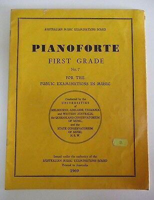 Pianoforte First Grade No. 7 - Australian Music Examinations Board, Piano - 1969