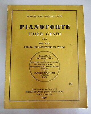 Pianoforte Third Grade No. 7 - Australian Music Examinations Board, Piano - 1969