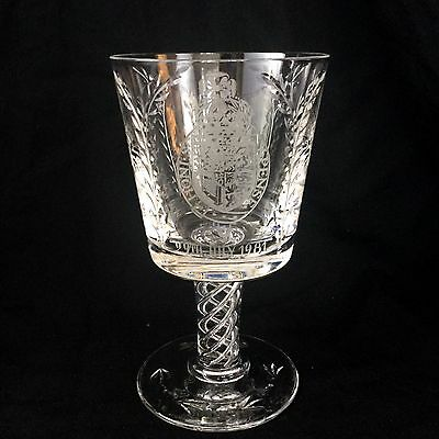 Rare Cut Glass Crystal Goblet Mulberry Hall Royal Wedding Princess Diana Charles