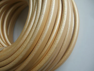 1 Meter High Quality 10x6mm Champagne Gold Real Genuine Licorice Leather Cord
