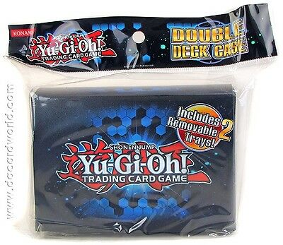 Konami Yugioh Trading Card Game Double Deck Case Including 2 Removable Trays