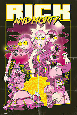 """RICK AND MORTY - TV SHOW POSTER / PRINT (ACTION MOVIE) (SIZE: 24"""" x 36"""")"""