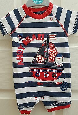 Baby boys sailor romper TU- Ex stock New. Up to 3, 6 -9 -12 -18- 24 months