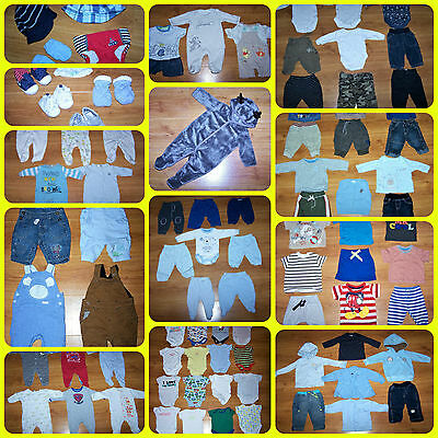 HUGE BUNDLE of BABY BOYS CLOTHES **89 ITEMS** 0 - 3 months incl. Next