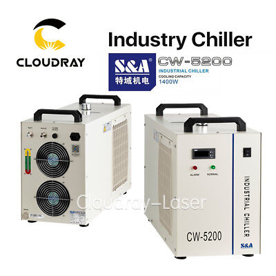 110V S&A CW5200 Industry Air Water Chiller for Cooling 150W CO2 Laser Tube