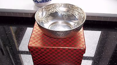Silver Bowl Heavy 204 Grams Bought after WWII In Bombay Original Box Danabhai