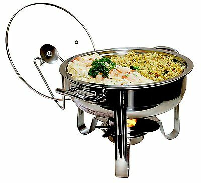 BRAND NEW! Excelsteel 4-Quart Heavy Duty Professional Stainless Chafing Dish