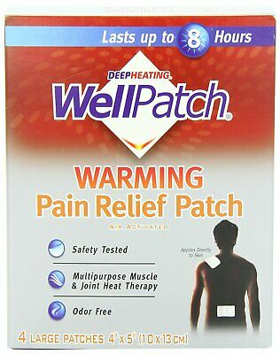 Wellpatch Warming Pain Relief, Heat Patch - 4 Each (Pack Of 3)