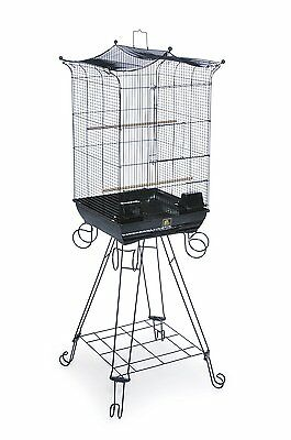 Prevue Pet Products Penthouse Suites Crown Top Bird Cage with Stand 261 Black,