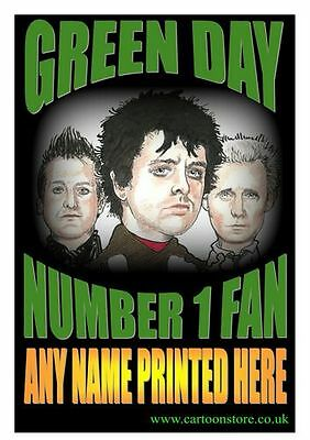 "No 1 GREEN DAY  FAN PERSONALISED- Flexible Fridge Magnet Approx 5"" x 4"""