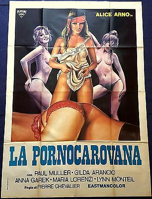 Manifesto Poster Movie Cinema La Pornocarovana Alice Arno Erotico Hard Core 4Fg