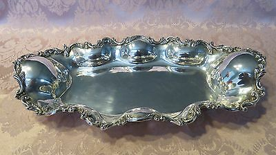 "VINTAGE LARGE SANBORN STERLING SILVER BAROQUE  TRAY 741  GRAMS 14.25 ""x7.25  """