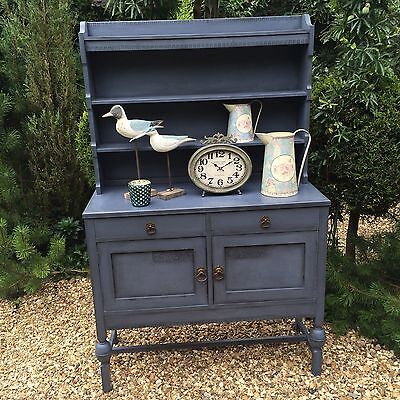 Rustic Edwardian Oak Dresser Painted In Annie Sloan