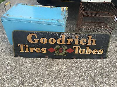 "Vintage B. F. Goodrich Tires Tubes Metal Sign Goodyear 34"" X 10"""