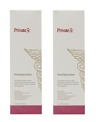 2 PrivateRx Personal Vaginal Lubricant for Dryness Menopause 2oz Hypo Allergenic