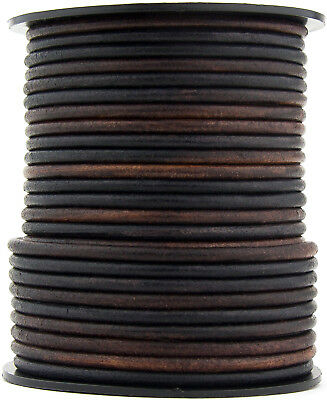Xsotica® Gypsy Sippa Round Leather Cord 3mm 3 meters (3.28 yards)