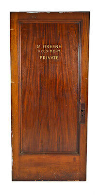 "Private Office ""m. Greene"" Door Salvaged From Chicago Residential Office Buildin"