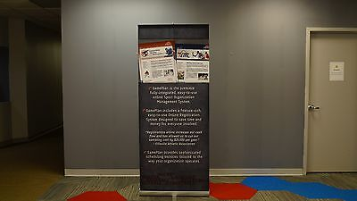 """Skyline 3000R 34"""" Retractable Banner Stand - Used"""