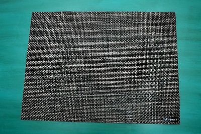 "Nwt Chilewich $14.50 Carbon Bamboo Basketweave Rectangle Placemat 14""x19"""