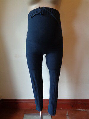 Maternity Navy Blue Over Bump Leggings Size 10