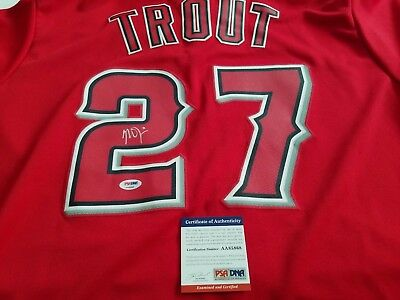 473a9b903d5 Mike Trout signed authentic jersey PSA DNA Anaheim Angels autographed MVP