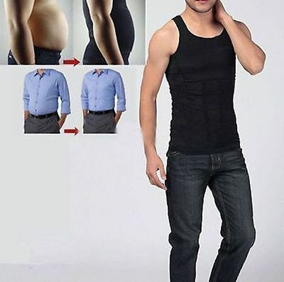 Mens Slimming Compression Slimmer Vest Body Shaper Belly Tummy Trimmer