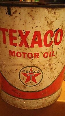 vintage texaco metal can oil gallon empty New York