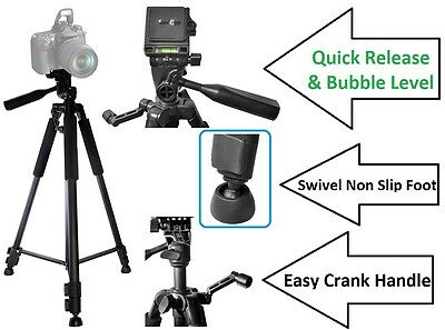 """60"""" Super Tripod With Case For Jvc Everio Gz-Hd300"""