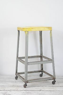 "Vintage Industrial Stool Industrial Seating 26.5"" Lab Stool Office Stool Kitchen"