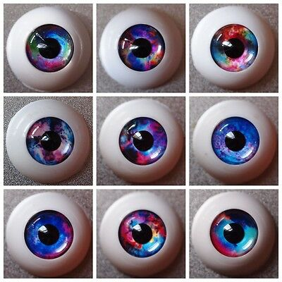 #XH Acrylic Eyes for BJD Doll 12 14 16mm 18 20 22 SD Dollfie Blue Purple Red
