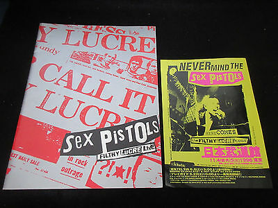 Sex Pistols 1996 Japan Tour Book with A Promo Flyer John Lydon Punk Flithy Lucre