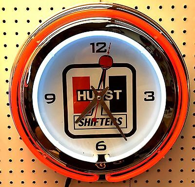 "15"" Hurst Sign Double Neon Clock"