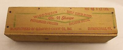 1.5 lb.Clearfield Cheese Co. Cheese box Wisconsin Ole N Sharpe Cheese