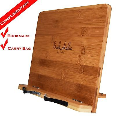 Bamboo Tablet Stand Book Stand Cookbook Holder Book Rest Reading Rests Bookstand