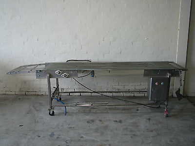 Stainless Steel Motorised Conveyor - 3m long