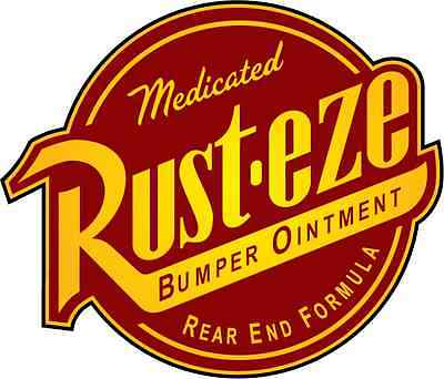 "Rust-Eze Car Bumper Sticker 5"" x 5"""
