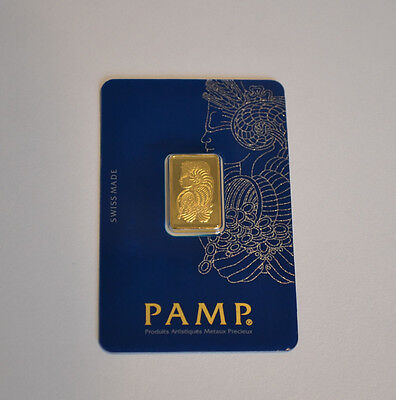 PAMP Suisse Lady Fortuna Veriscan 5g Gold Bullion Bar .9999 Fine (In Assay)