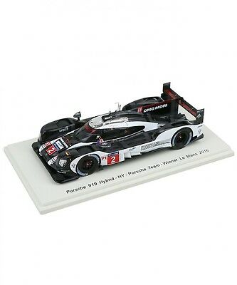 New Spark 1/43 Porsche 919 Hybrid HY Porsche Team 24h Le Mans 2016  Winner Japan