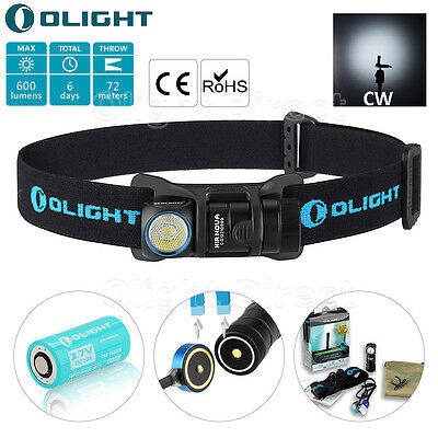 Olight H1R Nova Rechargeable Headlamp CREE LED with 1x 650mAh RCR123A Battery CW