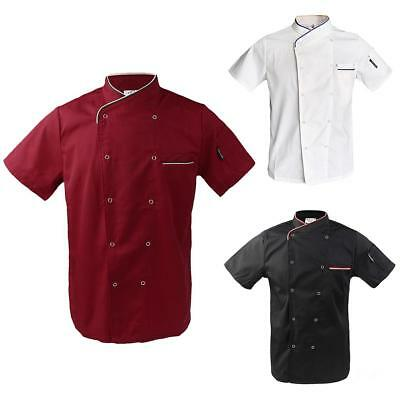 New Five Star Chef Apparel Unisex Short Press Button Executive Chef Coat
