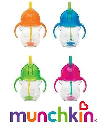 Munchkin Click Lock Tip & Sip Trainer Cup, Non Spill Straw Cup- 2 PACK DEAL!