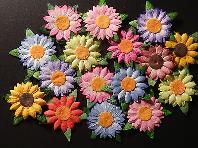 50 x Mulberry Paper DAISIES MPFF6X:: 23mm Scrapbook Craft Card embellishments