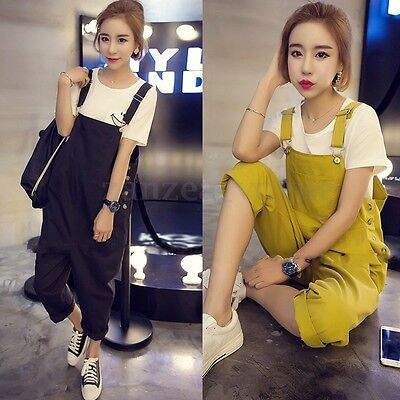 2017 Women Casual Strap Dungaree Jumpsuit Overalls Long Trousers Pants Playsuit
