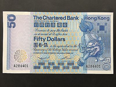 Hong Kong 50 Dollars P78a Chartered Bank Dated 1st January 1979 Uncirculated UNC