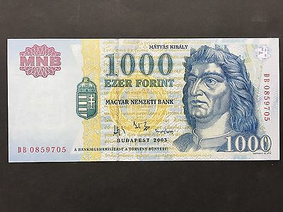 Hungary 1000 Forint P189b King Matyas Budapest Dated 2003 Uncirculated UNC